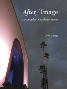 Bookcover for After/Image: palm trees, dark cloudy sky, facade of stucco arched building